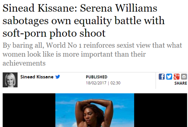 Sinead Kissane's column on Serena Williams in the Irish Independent